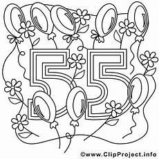 Malvorlagen Happy Ausmalbild Zum 55 Geburtstag