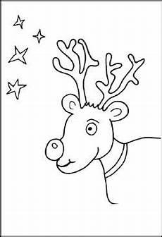malvorlage weihnachten rentier malvorlagen