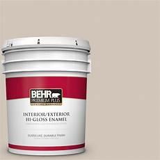 behr premium plus 5 gal mq2 50 gravelstone hi gloss enamel interior exterior paint 805005