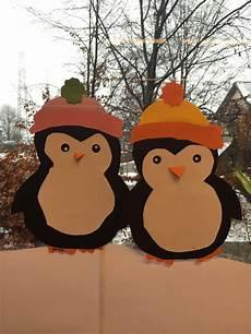 klassenkunst fensterbilder pinguine