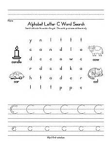 letter c word search for preschool kindergarten and early elementary