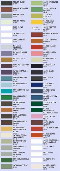 valspar enamel spray paint color chart i could make that pinterest paint colors sprays