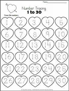 color by number worksheets hearts 16061 hearts math worksheet trace 1 to 30 for teachers preschool math preschool