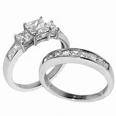 3 pcs stainless steel his engagement wedding matching band rings ebay