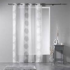 rideau voilage quot rondina quot 140x240cm blanc gris
