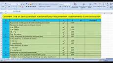 Comment Faire Un Devis Quantitatif Et Estimatif Pour