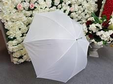 White Wedding Umbrellas