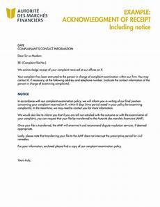 9 acknowledgment receipt exles pdf exles