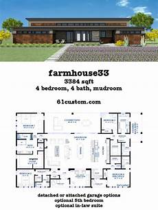single story modern house plans farmhouse33 modern farmhouse plan 61custom