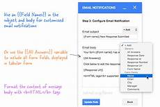 how to get forms data in an email message