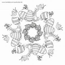 Osterhase Ausmalbilder Mandala Free Mandala Malvorlage Osterei Und Hase Zum Mit