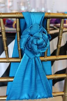 rose styled chair sashes from special event rentals in