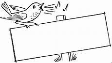 gratis malvorlagen einhorn schilder vogel auf einem schild ausmalbild malvorlage sonstiges