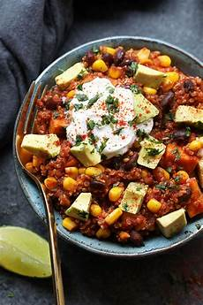 healthy slow cooker sweet potato mexican quinoa vegan