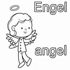 Malvorlagen Englisch Englisch Lernen Engel Zum Ausmalen Nyelv