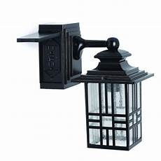 hton bay mission style exterior wall lantern with built in electrical outlet gfci 30264 at