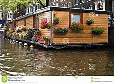 hausboot liegeplatz hamburg houseboat at amsterdam stock image image of view travel
