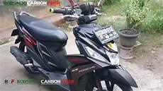 Mio M3 Modif Nmax by Yamaha Mio M3 125 Carbon Fiber Mengganti Stang Dan Spedo