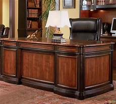 home office furniture wood two tone wood executive home office desk with 5 drawers