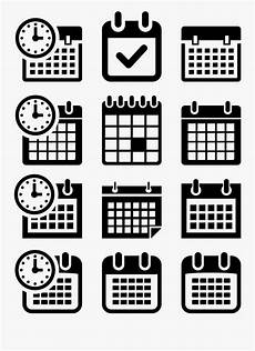 Clipart Gambar Kalender Hitam Putih Free Transparent