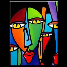 Abstract Painting Modern Pop Contemporary Portrait By