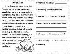 weather reading comprehension passages questions