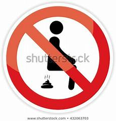 Bathroom Signs No Pooping by No Sign On White Background Stock Illustration