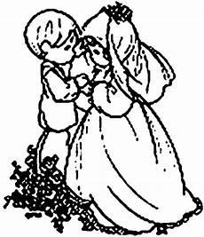 kinderpaar ausmalbild malvorlage hochzeit