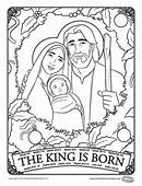 Herald Store Free  The King Is Born Coloring Page
