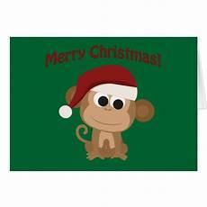 merry christmas monkey stationery note card zazzle