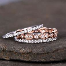 romad 3pcs dainty ring for rose gold filled