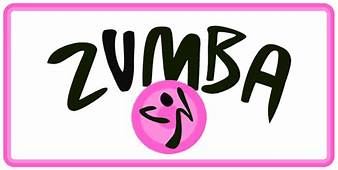 Zumba Fitness License Plate Tag