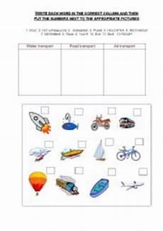 transportation safety worksheets 15235 worksheets methods of transport