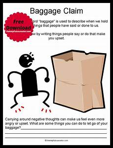 emotional baggage free printable feelings student and activities