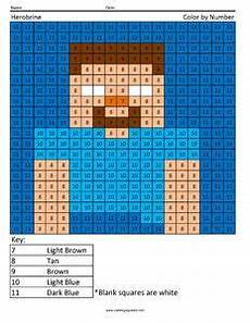 minecraft color by number coloring squared minecraft coloring pages multiplication minecraft