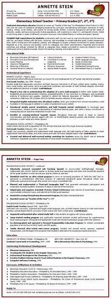 elementary teacher resume keywords resume sles by advanced career systems inc