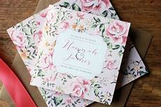 vintage floral wedding invite by the white letter