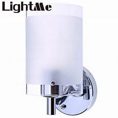 mordern chinese white wall l single head bedroom wall light with white polished glass shade