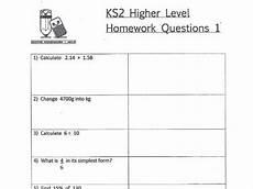 ks2 maths higher level homework worksheets teaching resources