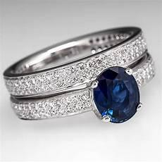 ritani sapphire diamond endless love engagement ring set