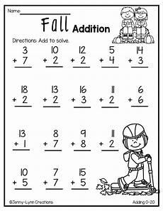 fall addition kids math worksheets math worksheets