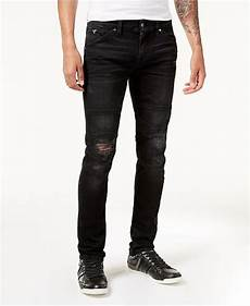 guess s slim fit tapered stretch ripped moto