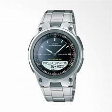jual casio digital analog jam tangan pria abu abu hitam aw 80d 1av online harga kualitas