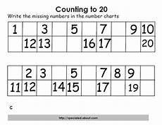 math activities for counting to twenty worksheets for