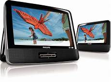 philips 9 inch dual screen portable dvd player black