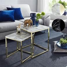 wohnzimmer tische finebuy design beistelltisch 2er set marmor optik eckig