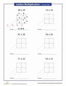 math worksheets lattice multiplication 4485 lattice method multiplication digits multiplication lattice multiplication learning