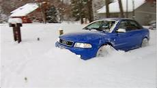 500 hp audi s4 quattro 12 quot of fresh snow unstoppable youtube