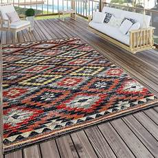 outdoor teppich schwarz weiß in outdoor teppich zickzack rot teppichcenter24