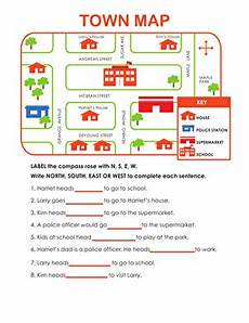 worksheets on directions for grade 4 11747 my neighborhood map worksheet education
